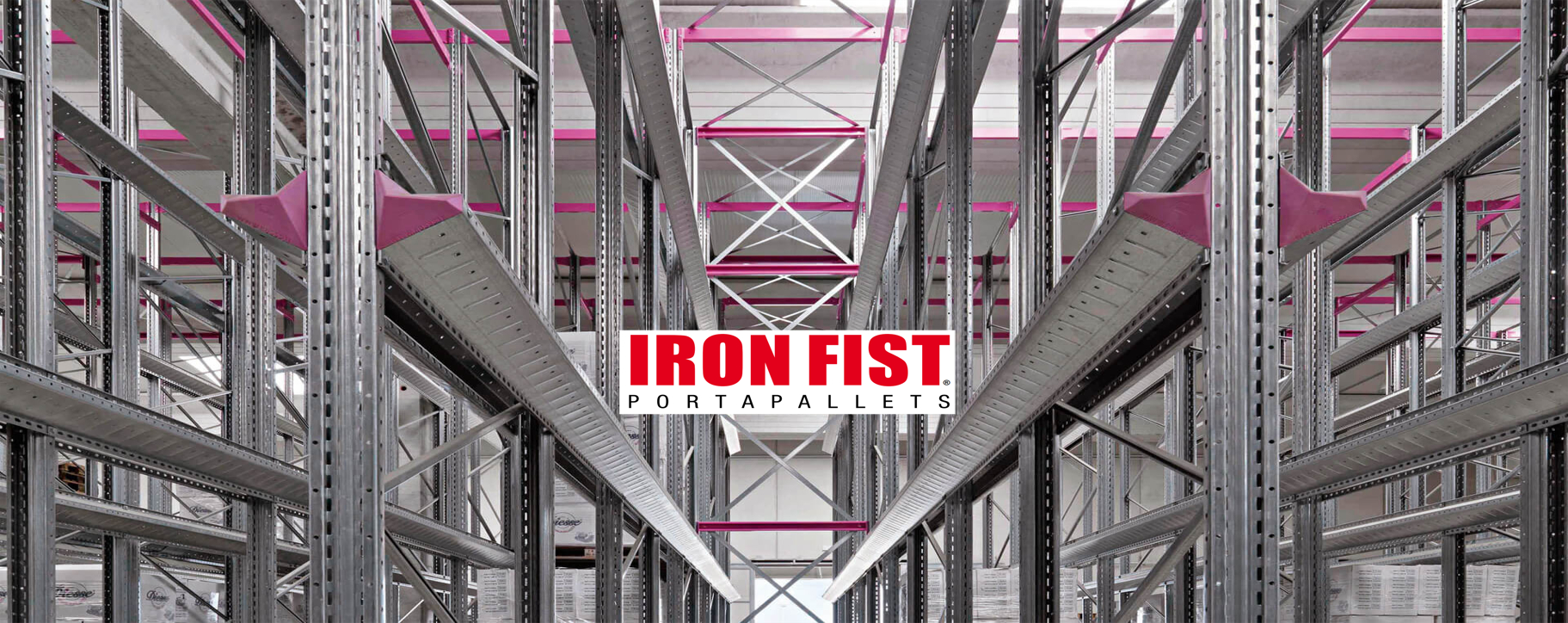 Rafturi Iron Fist depozitare paleti drive-in